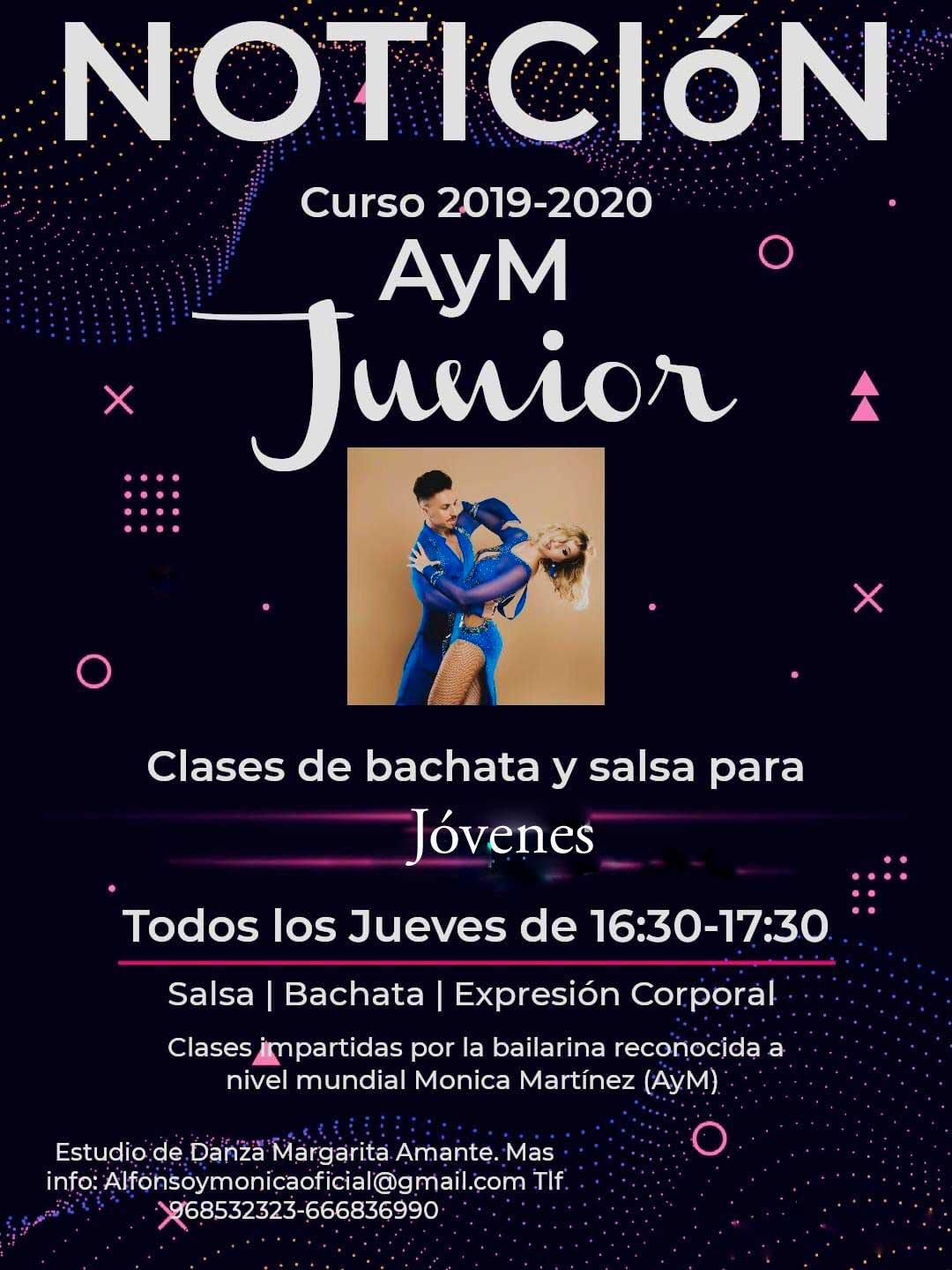 Clases de Bachata y Salsa para niños, jóvenes, junior en Murcia