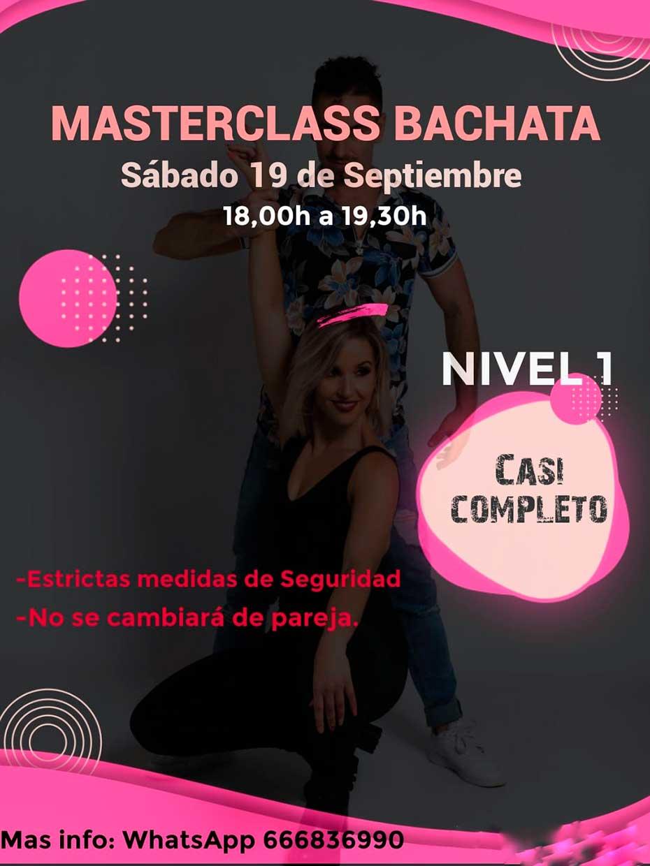 Masterclass Bachata Nivel 1 19 de Septiembre 2020