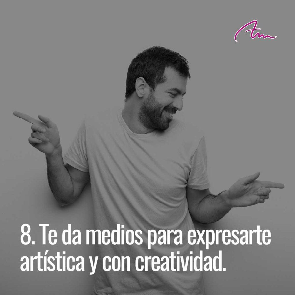 Bailar te da medios para expresarte artísticamente y con creatividad